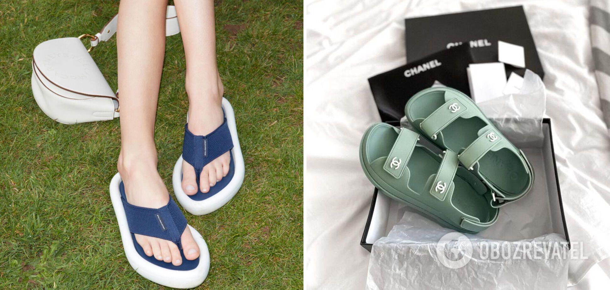 Вьетнамки, сандалии и кроссовки стоит положить в чемодан.