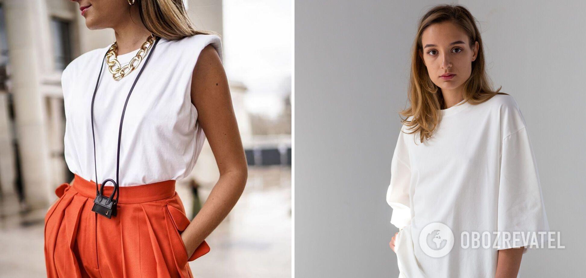 Белые футболки – базовая вещь в летнем гардеробе.
