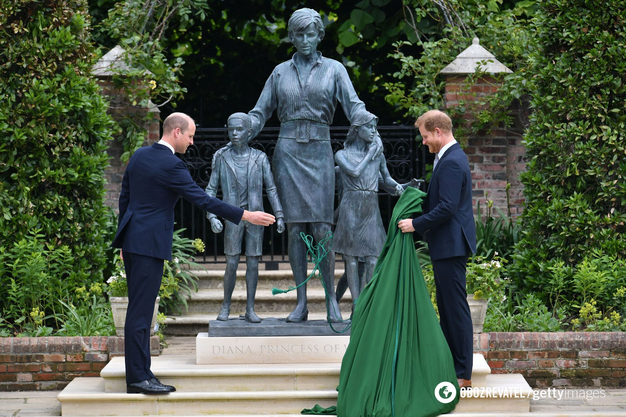 Статуя принцессе Диане.
