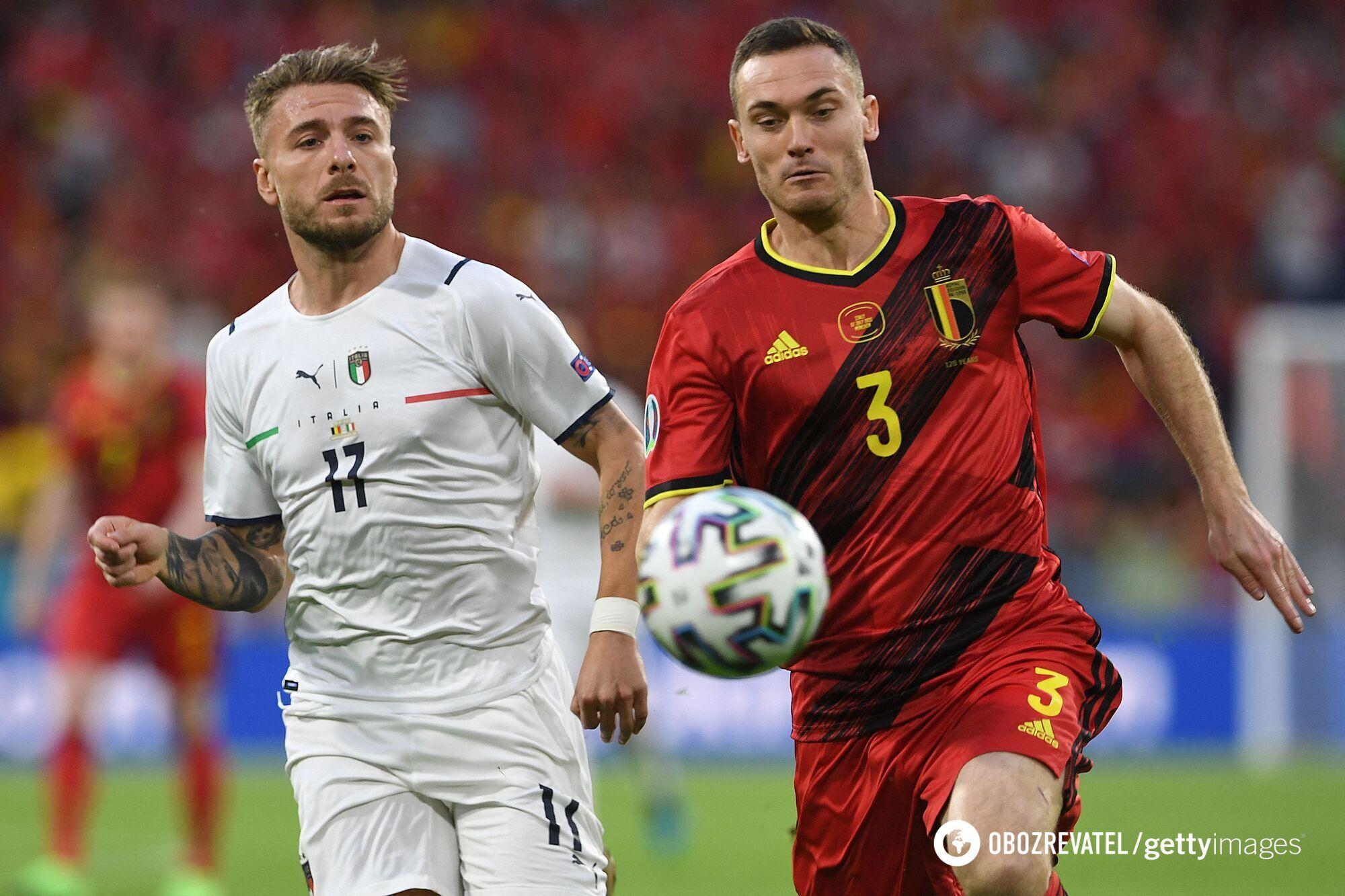 Захисники Бельгії провалилися в першому таймі.