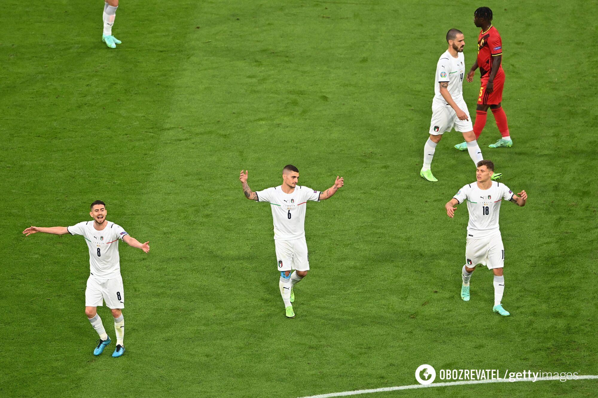 Італія виграла всі матчі в групі.