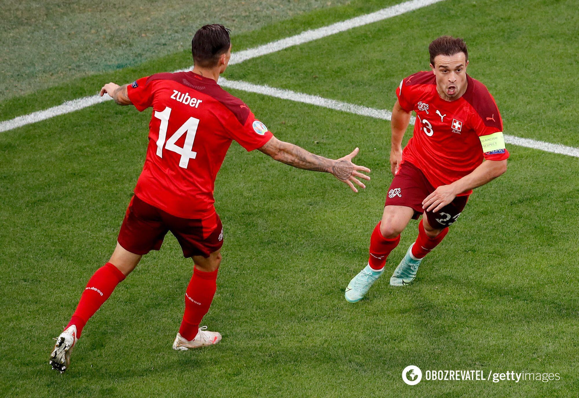 Шакірі забив у ворота Іспанії.