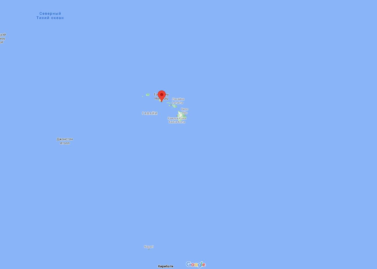 Літак приводнився біля берегів Гонолулу.