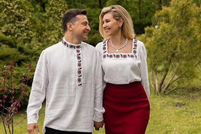 Зеленский с супругой Еленой