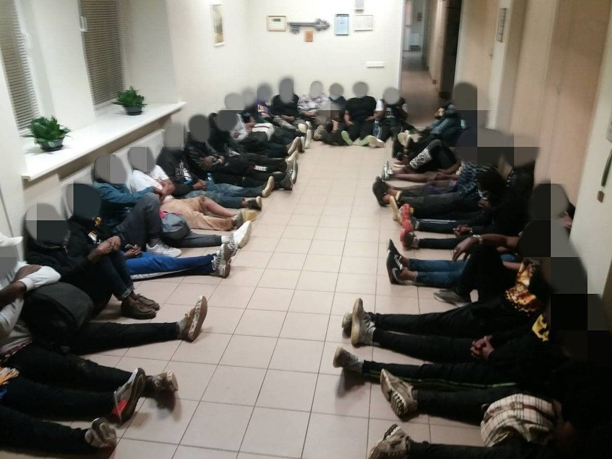 Задержанные на территории Литвы нелегалы