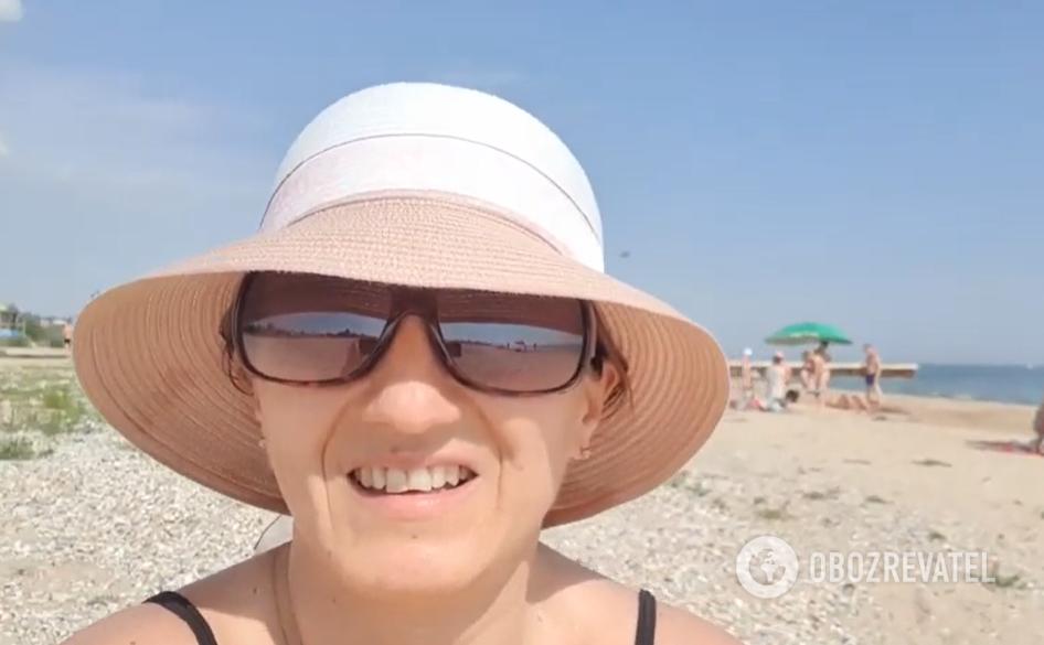 Блогерка розповіла про відпочинок у Коблеві.
