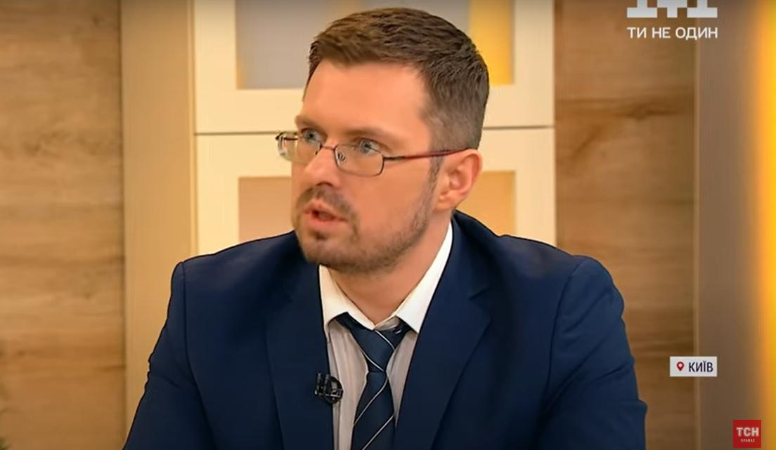 """Игорь Кузин в передаче """"Сніданок""""."""