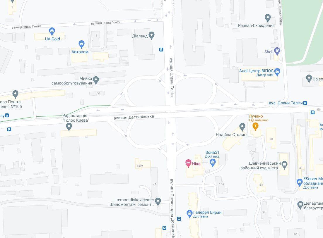 Инцидент произошел на улице Дегтяревской.