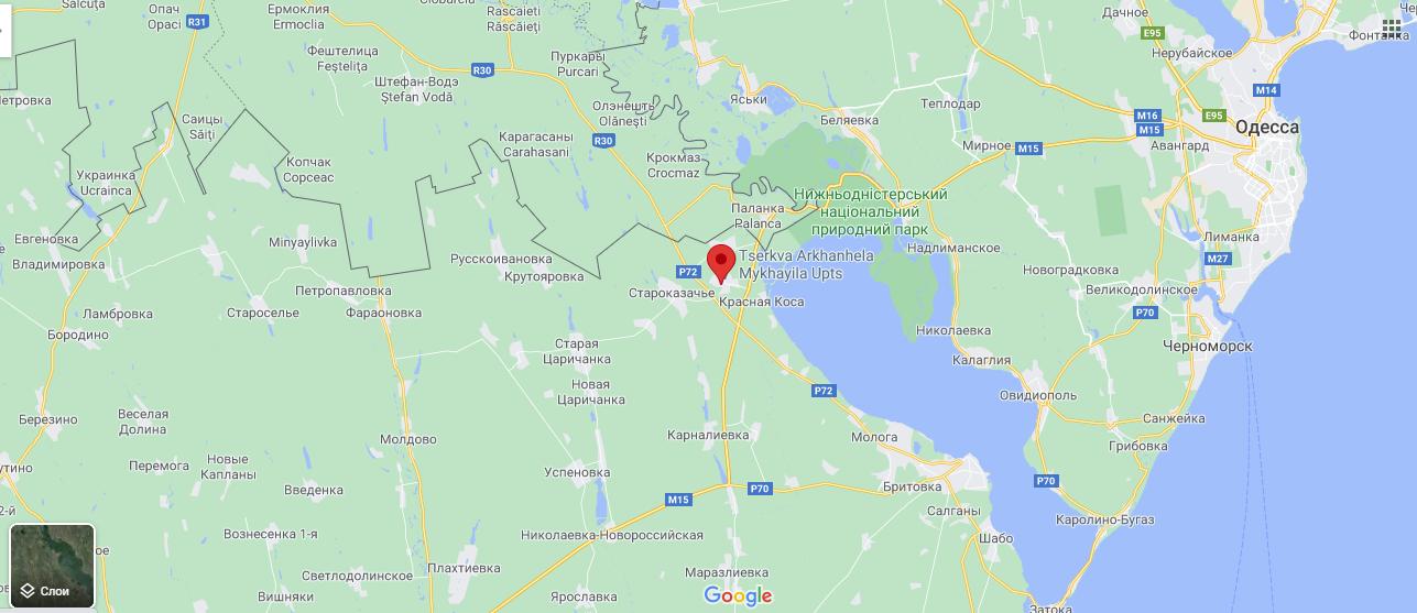 Село на мапі
