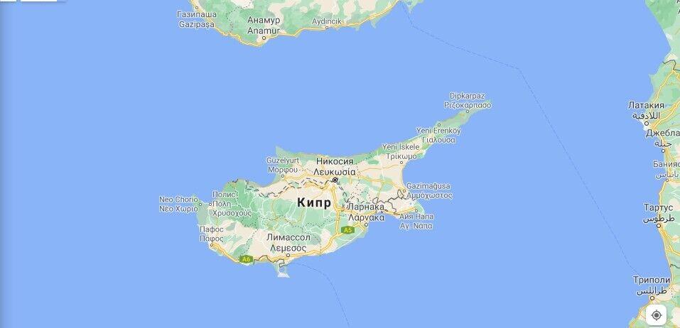 Кіпр на карті