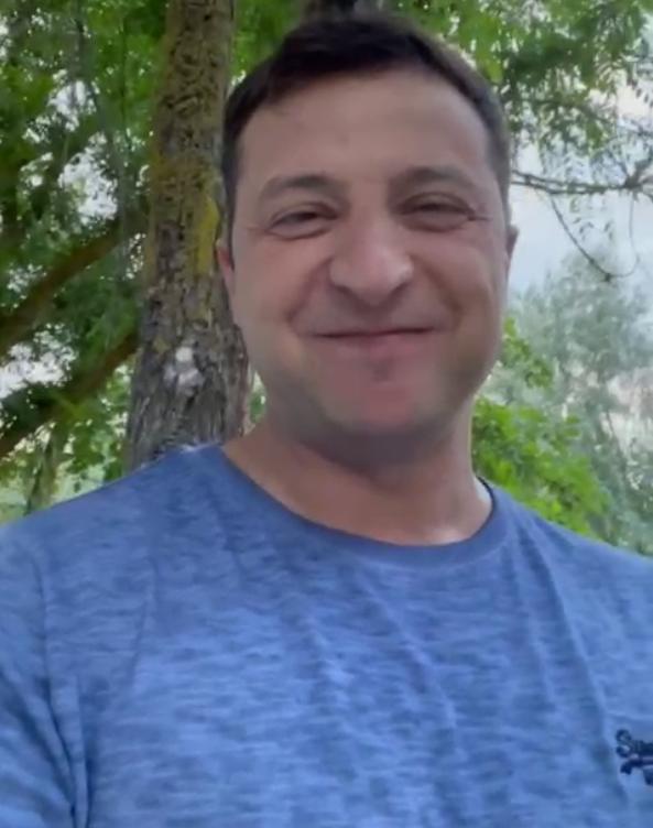 Зеленский поддержал сборную Украины.