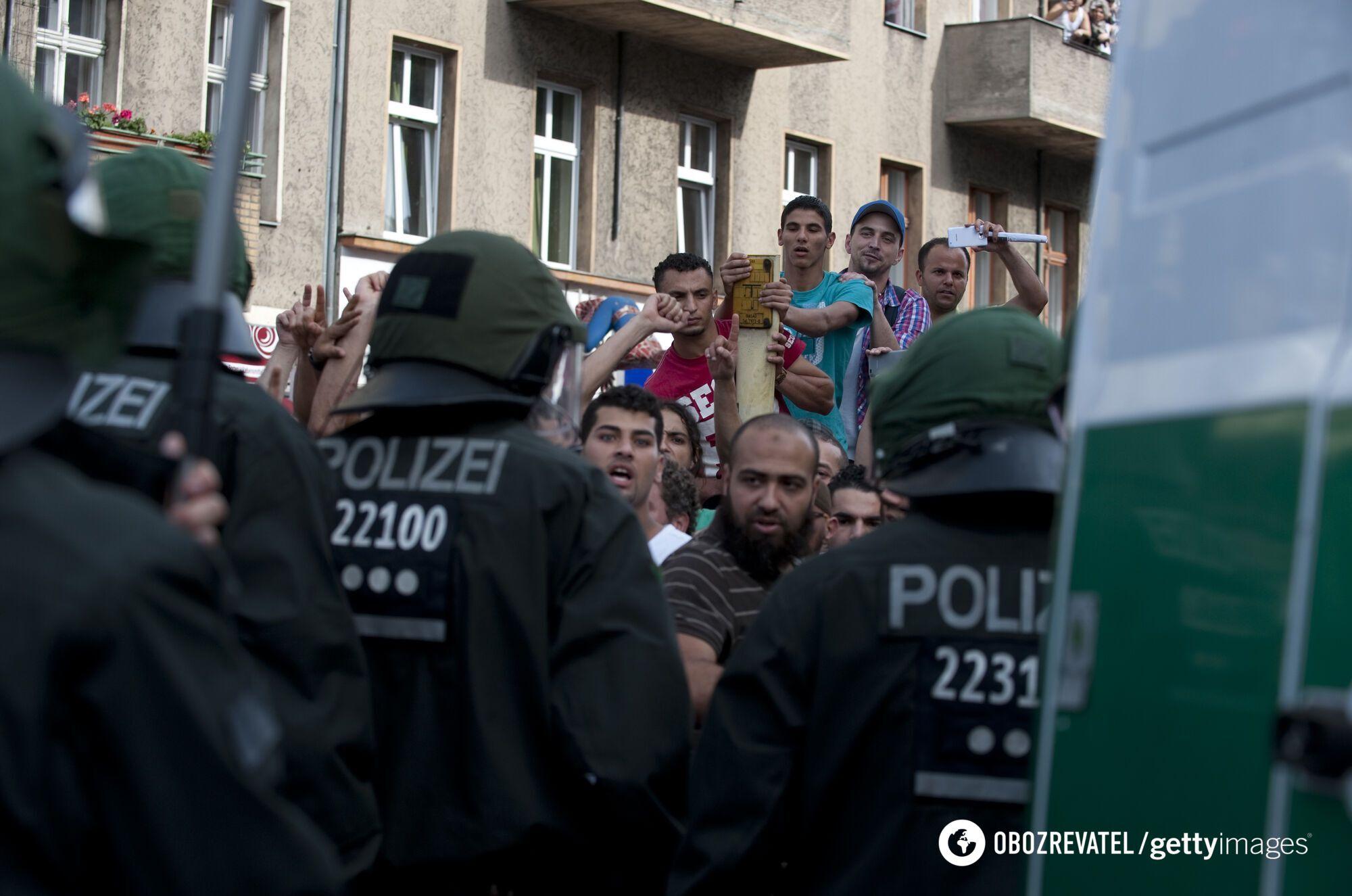 Протесты мусульман в Германии