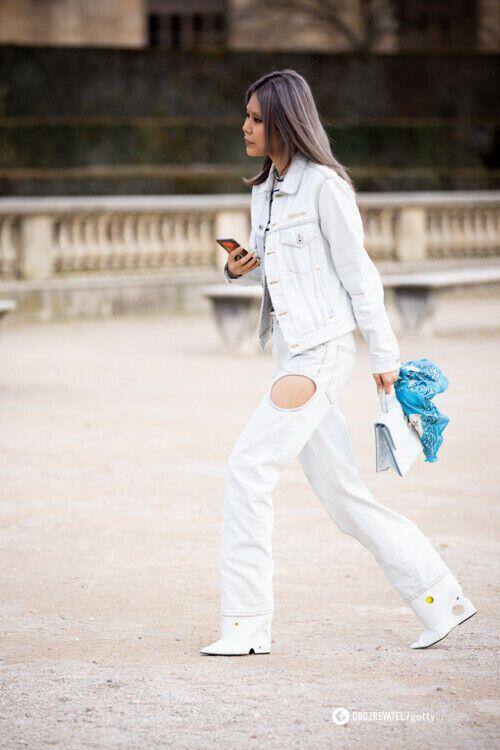 Джинсы с вырезами: с чем носить.