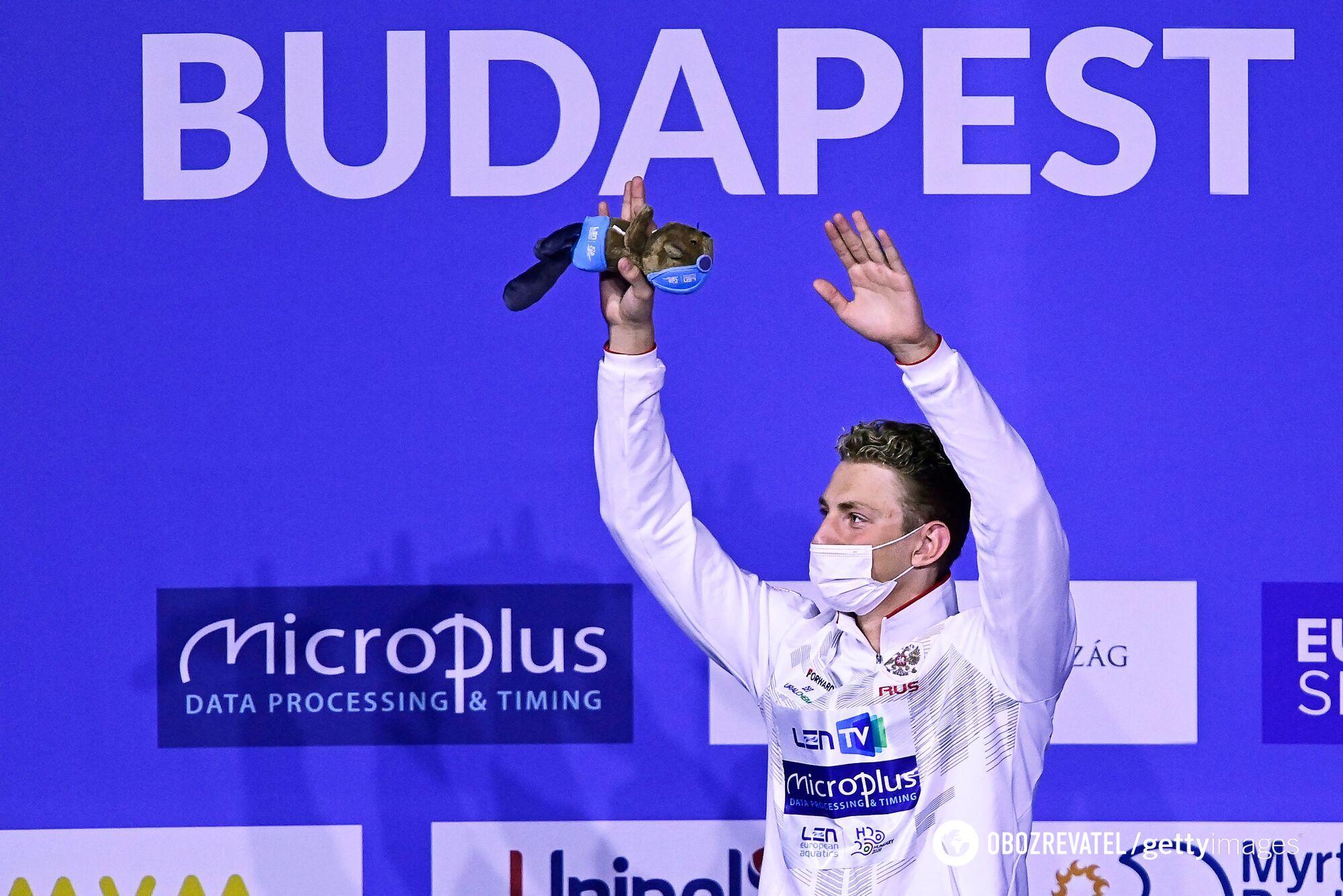 Илья Бородин после победы на чемпионате Европы в Будапеште