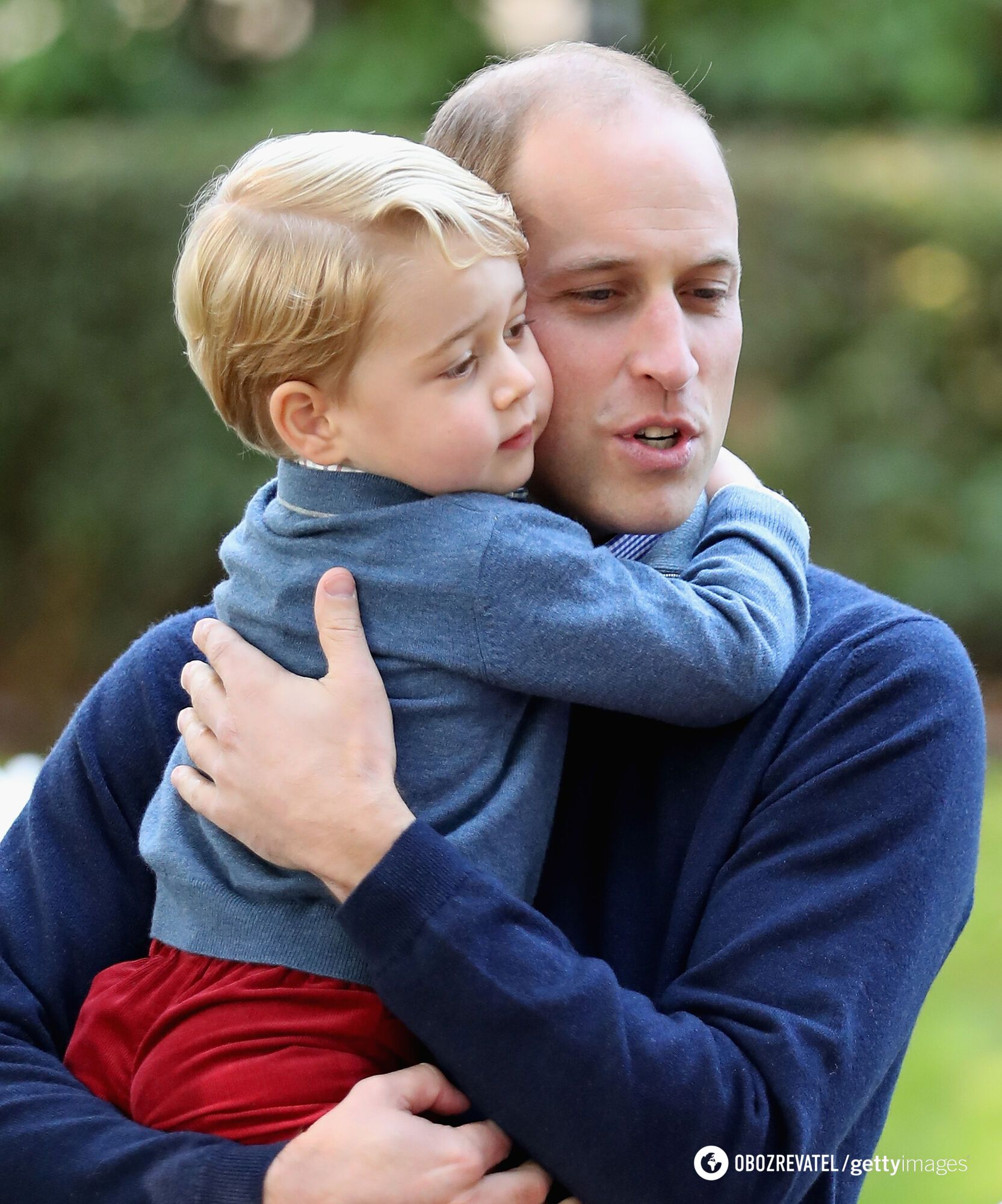 Принц Джордж с отцом.