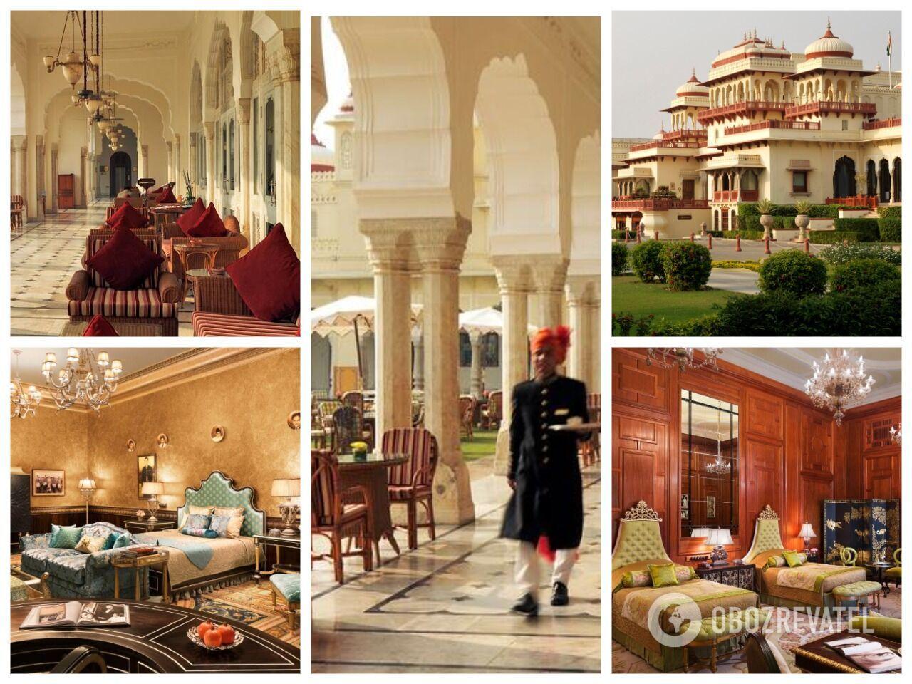 Дворец Рамбага в Джайпуре в Индии