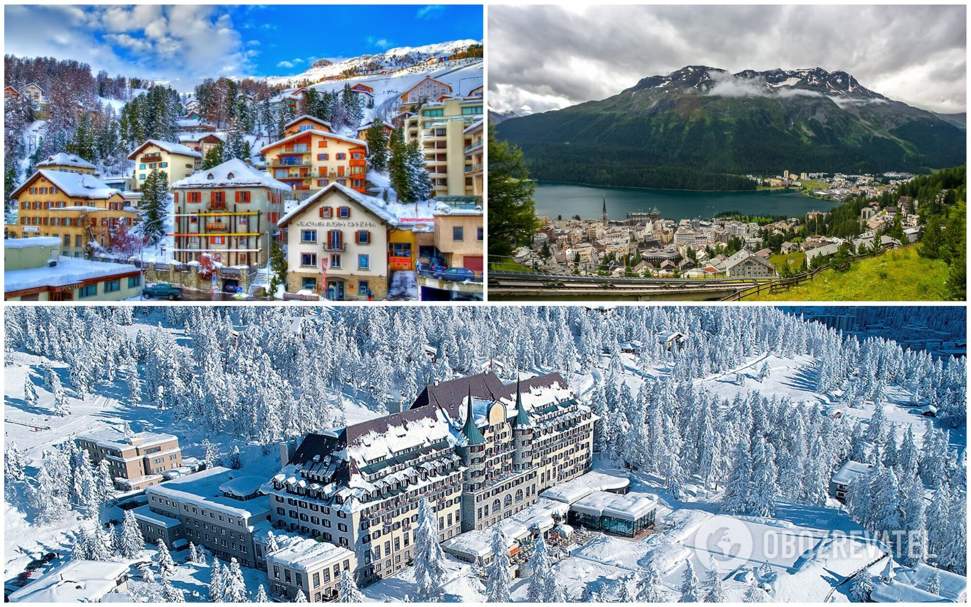 Швейцарский горнолыжный курорт Санкт-Мориц в Швейцарии