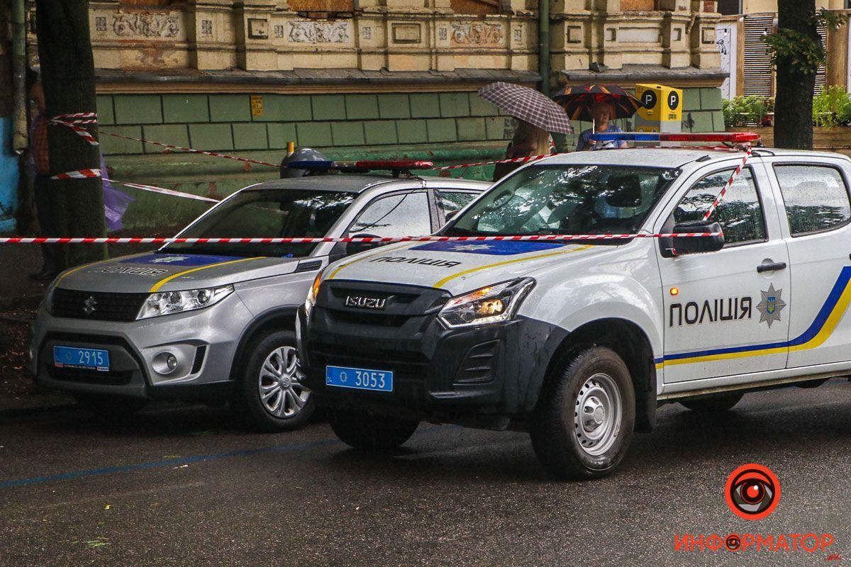 Авто полиции на месте ЧП