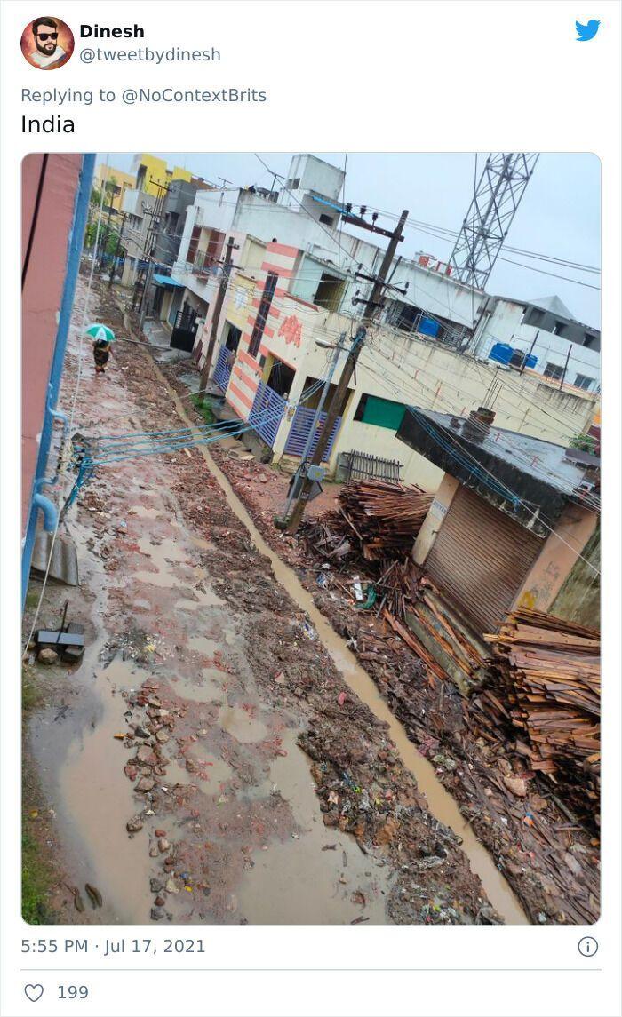 Індійські дороги після дощу - суцільне багно