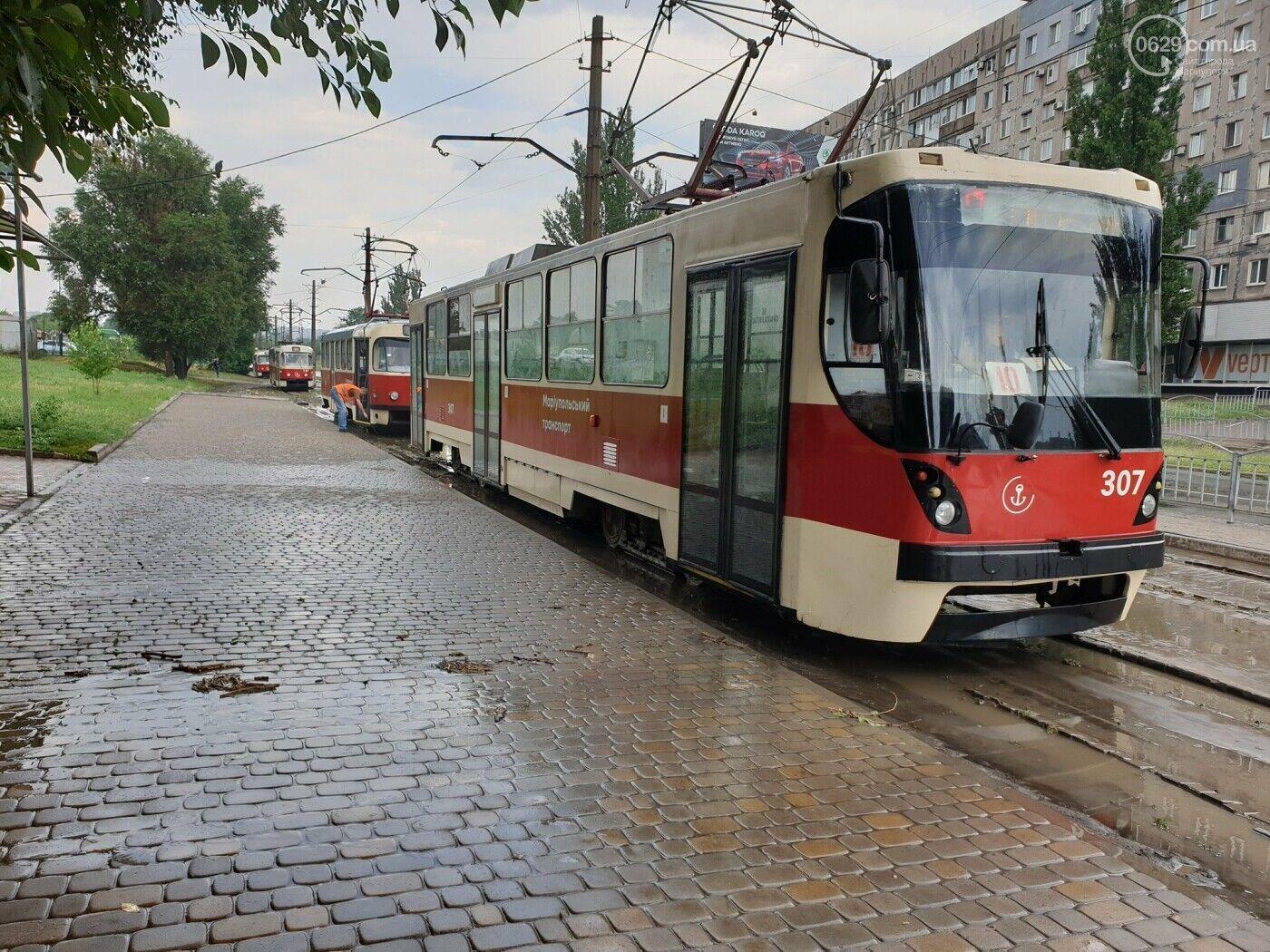 Из-за заиления пути остановились трамваи