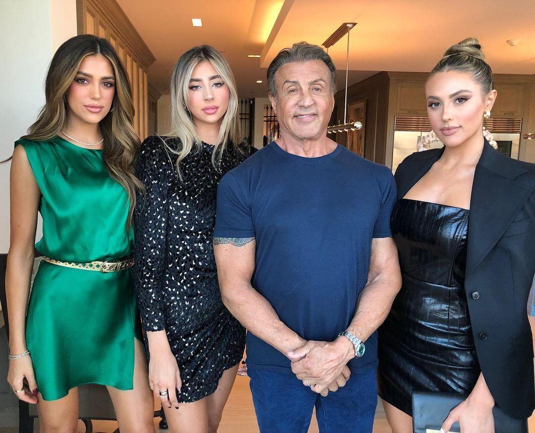 Сильвестр Сталлоне с дочерями