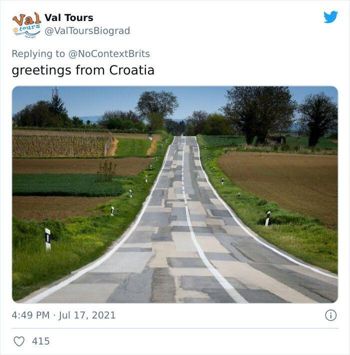 Дорогу в Хорватії вирішили зробити з усіх видів асфальту