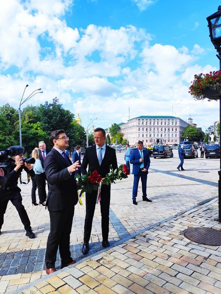 Начался визит главы МИД Венгрии в Украину