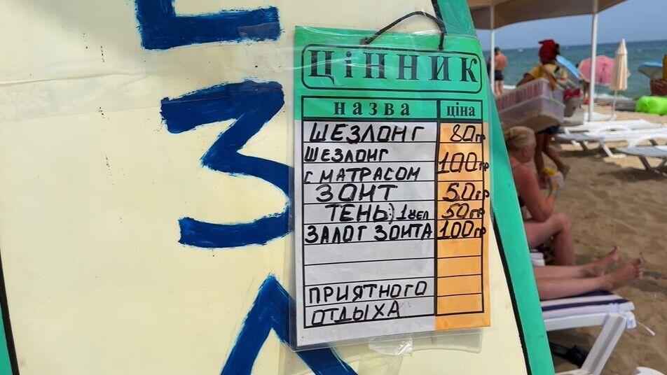 Цены на курорте Грибовка.