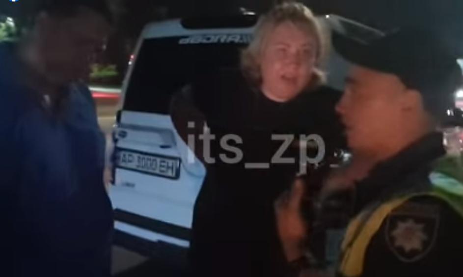 Катерина Бояр і її чоловік Микола під час п'яного конфлікту з патрульними