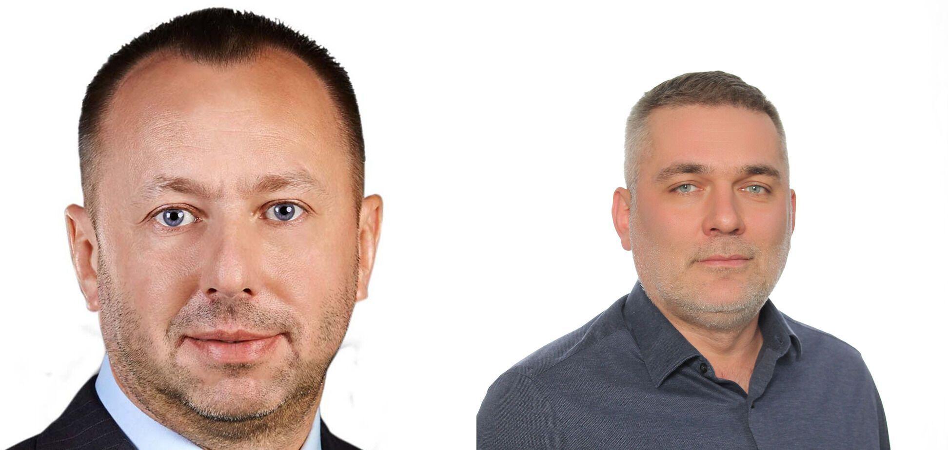 Заступники Товмасяна Альберт Кононенко (ліворуч) і Андрій Малиш (праворуч).
