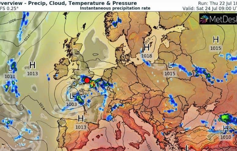 Карта циклона.