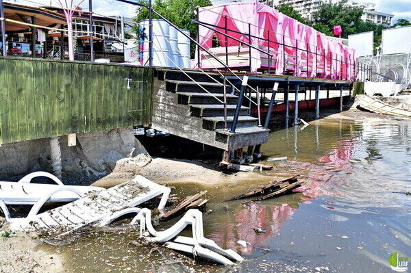 Последствия сильного ливня в Одессе.