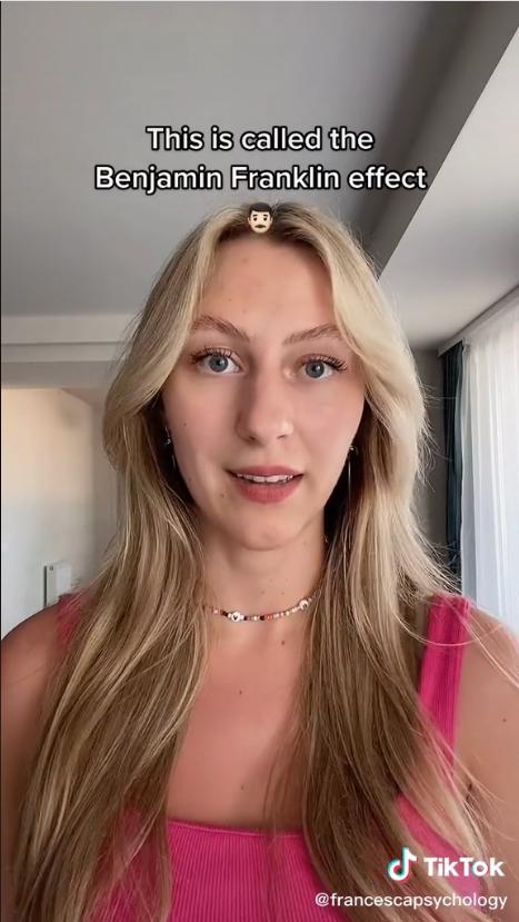 Франческа Тигинян рассказала о нескольких приемах, которые помогут понравиться людям