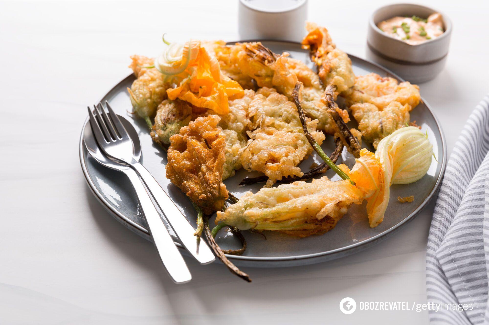 Как вкусно приготовить цветы кабачков