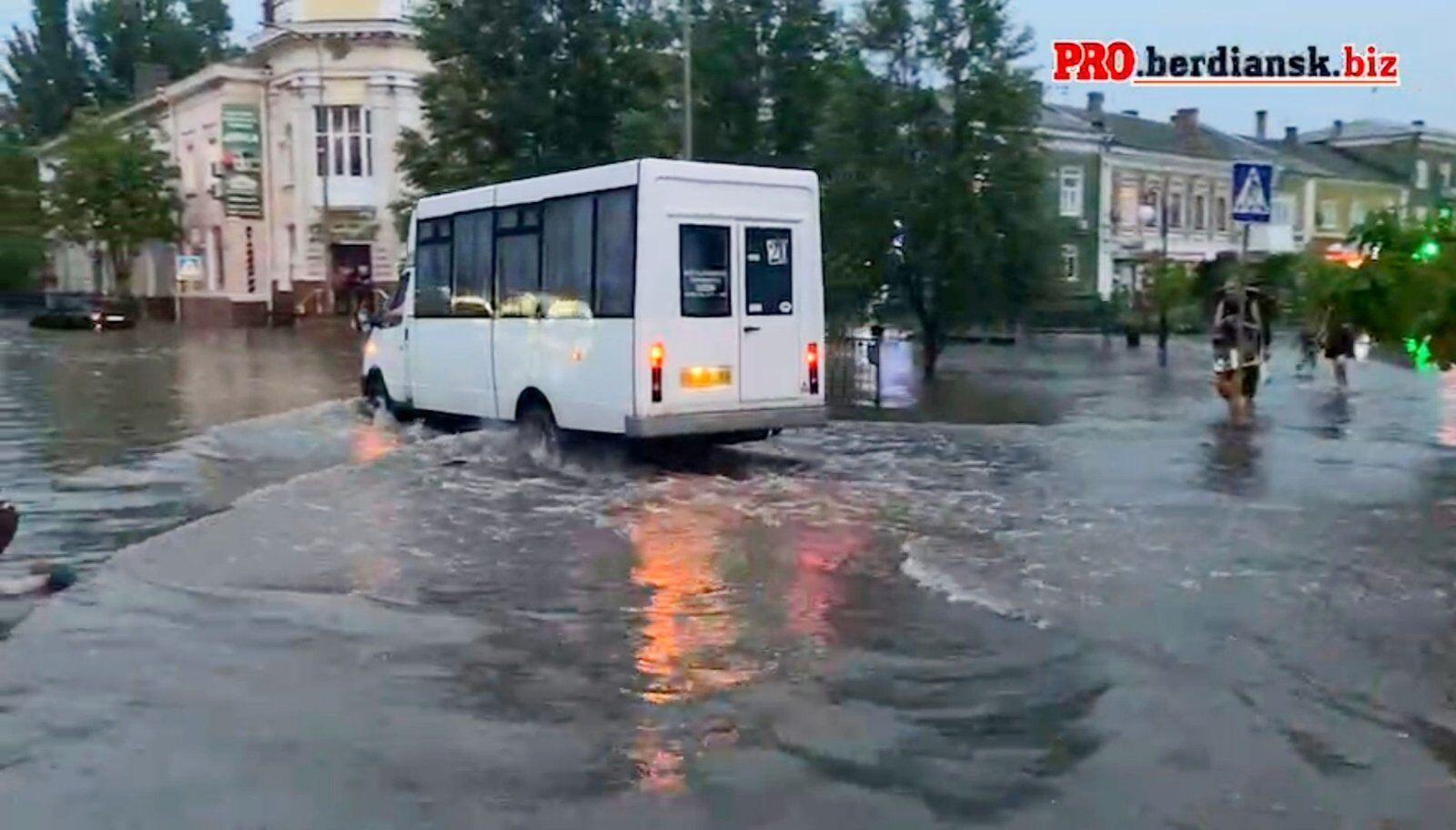 Бердянськ затопило після дощу