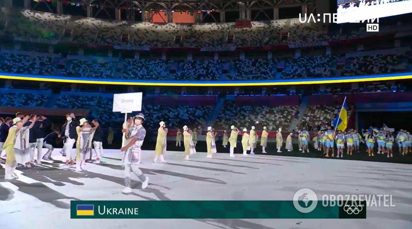 Украинцы на открытии Игр.
