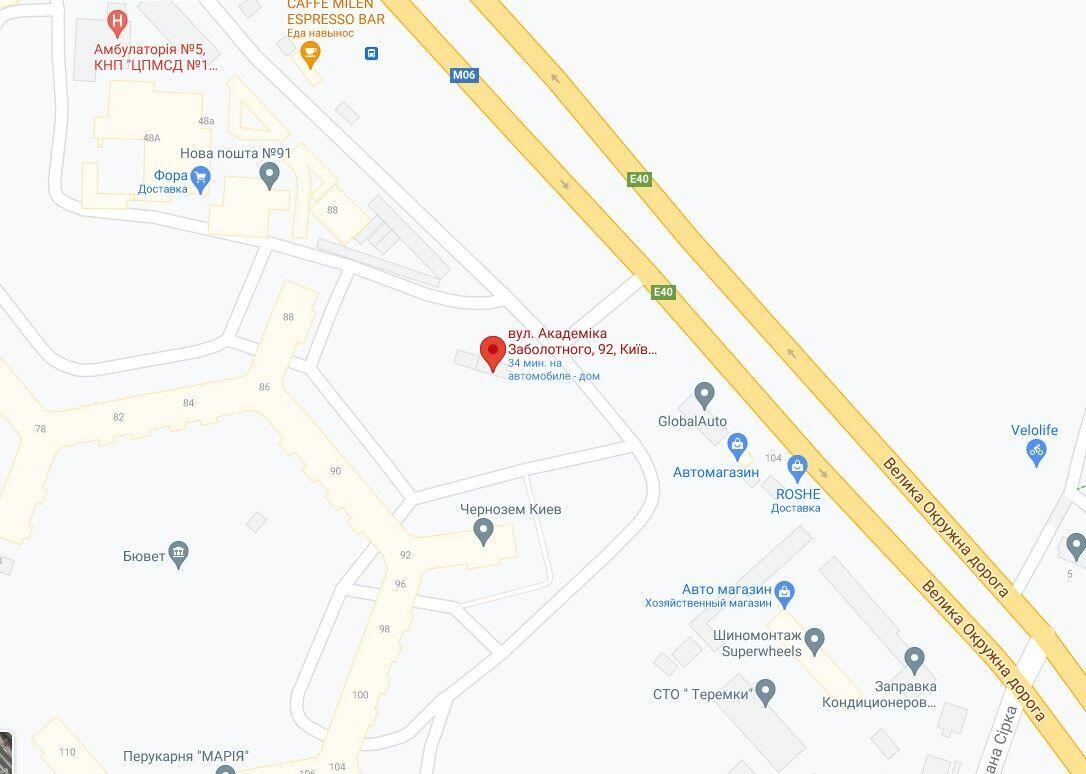 Инцидент произошел на улице Академика Заболотного.