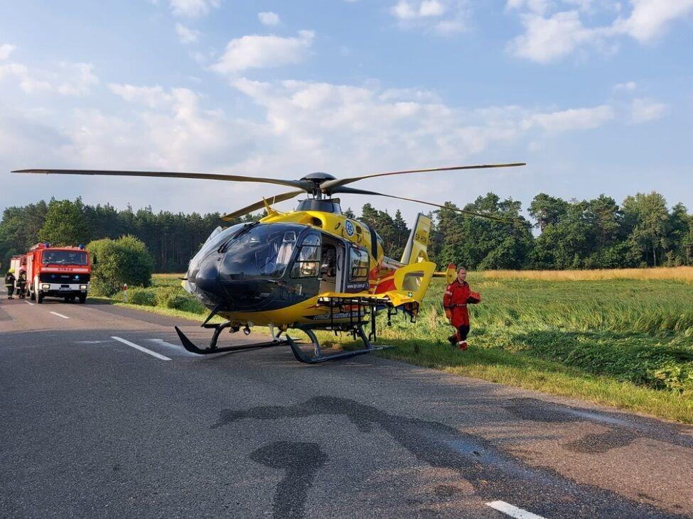 На місце події прибув гелікоптер медиків.