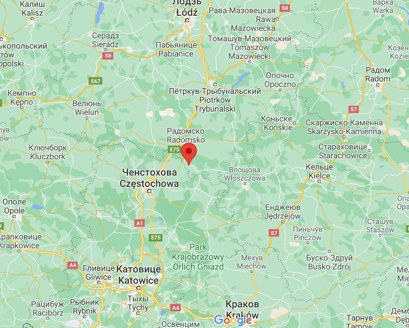 Аварія сталася між Радомсько та Гідле.