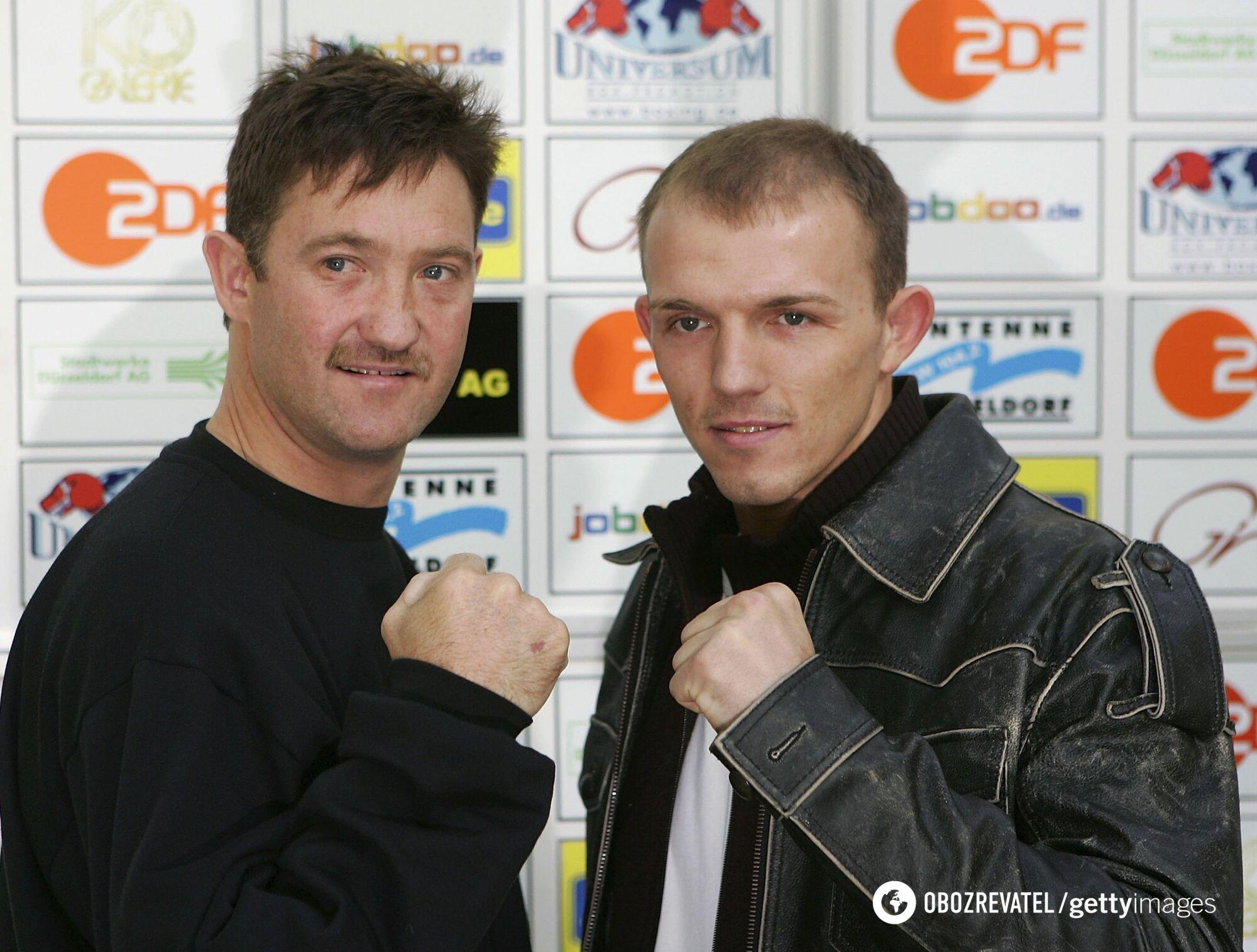 Андре Тюссе (слева).