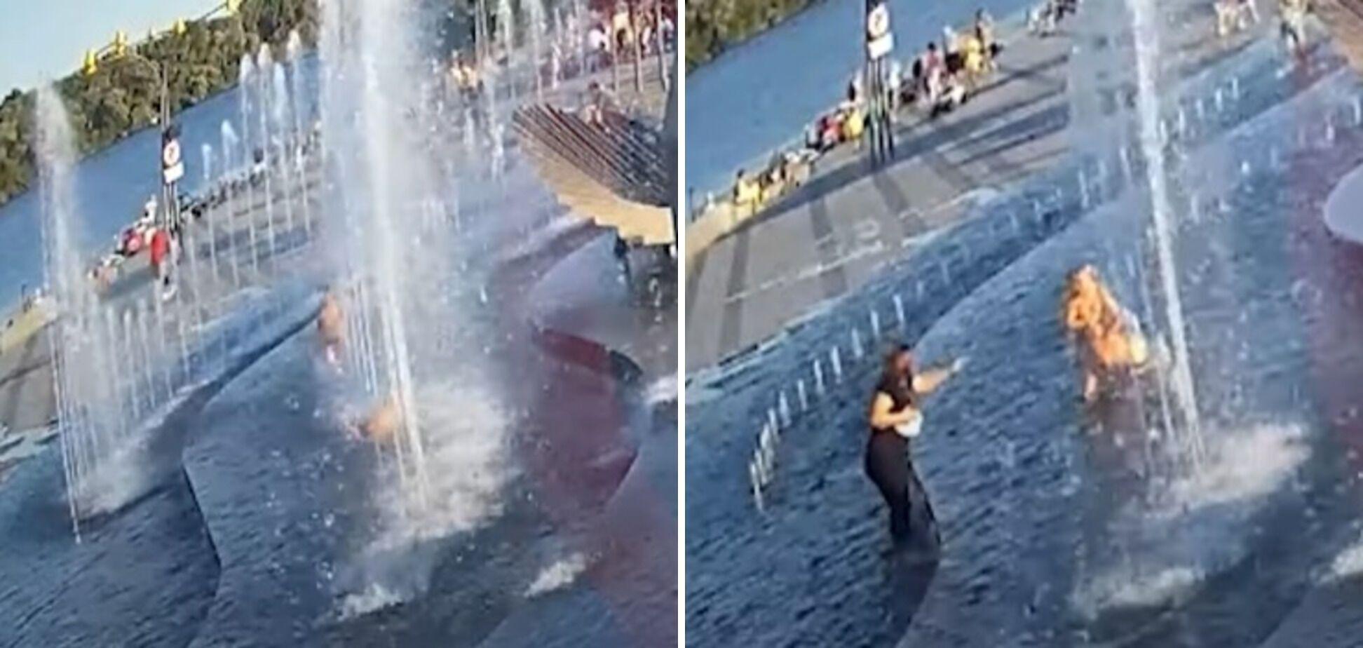 Дитина впала у фонтані.