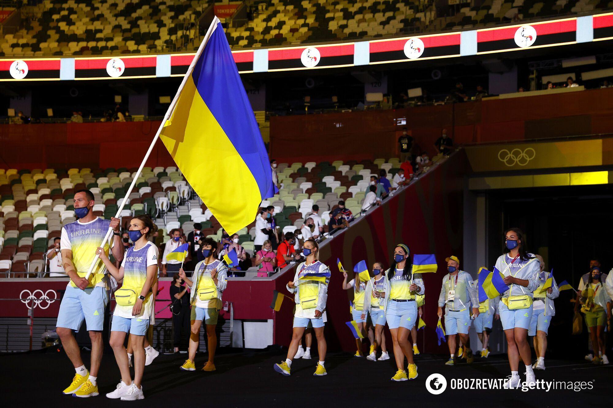 Украина на церемонии открытия Олимпиады-2020