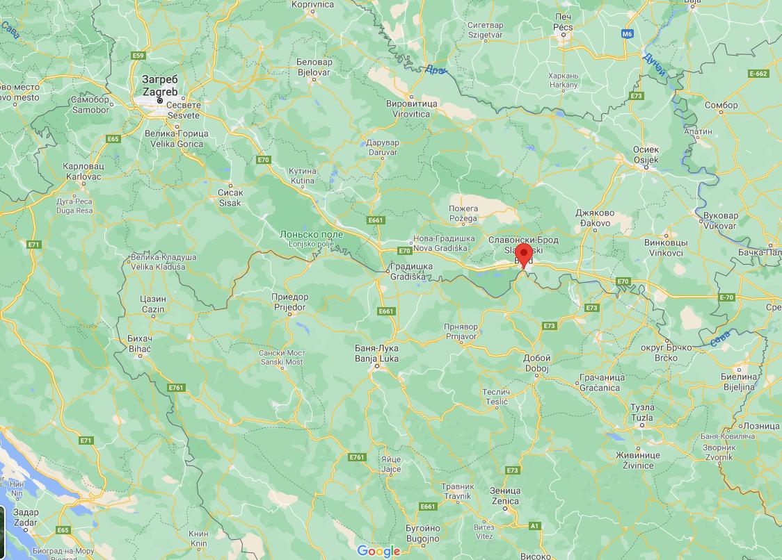 ДТП сталася недалеко від міста Славонський Брод.