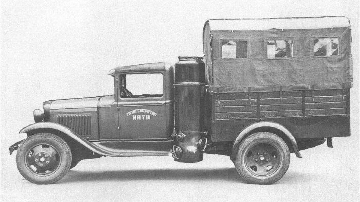 Радянські машини на дровах і шишках