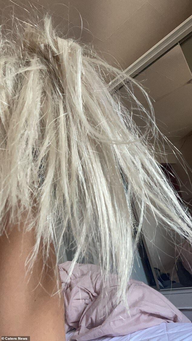 У Лейси испортились волосы