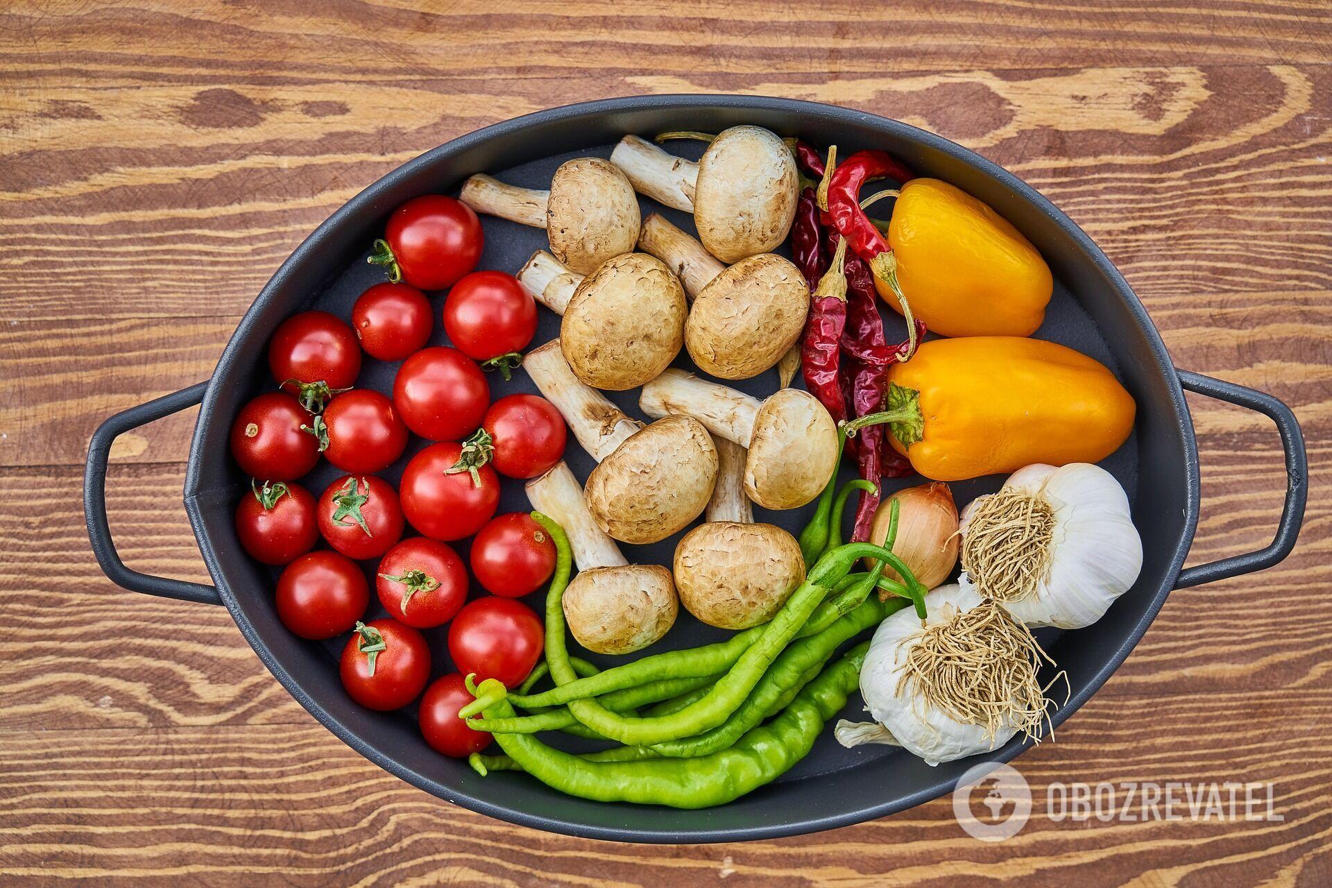 Інгредієнти для супу