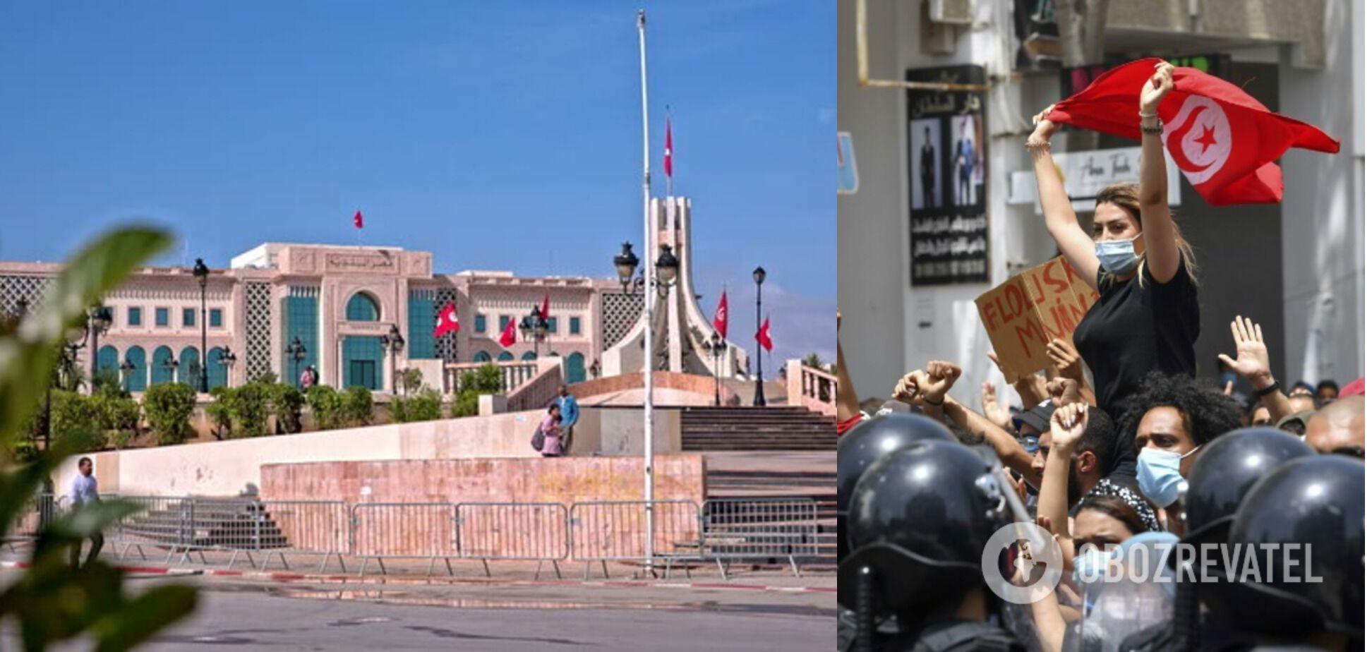 Президент Туниса распустил парламент после акций протеста