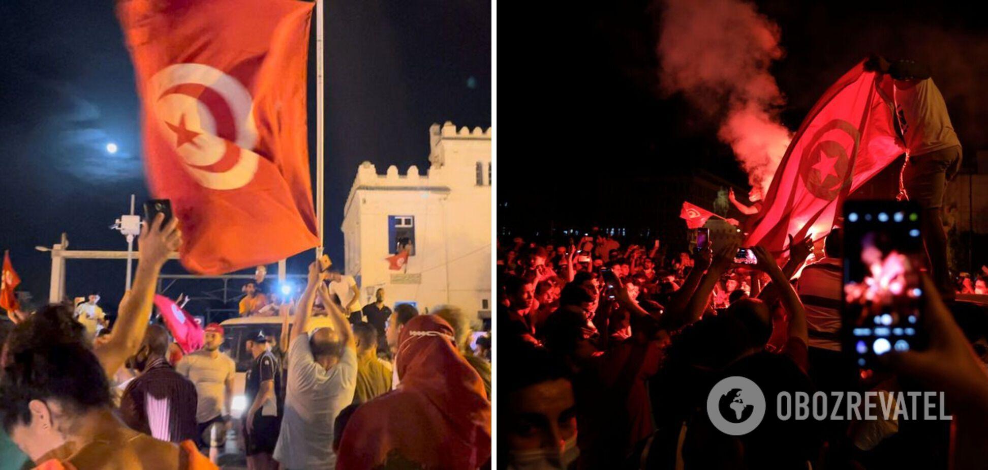 Протесты прошли в разных городах Туниса