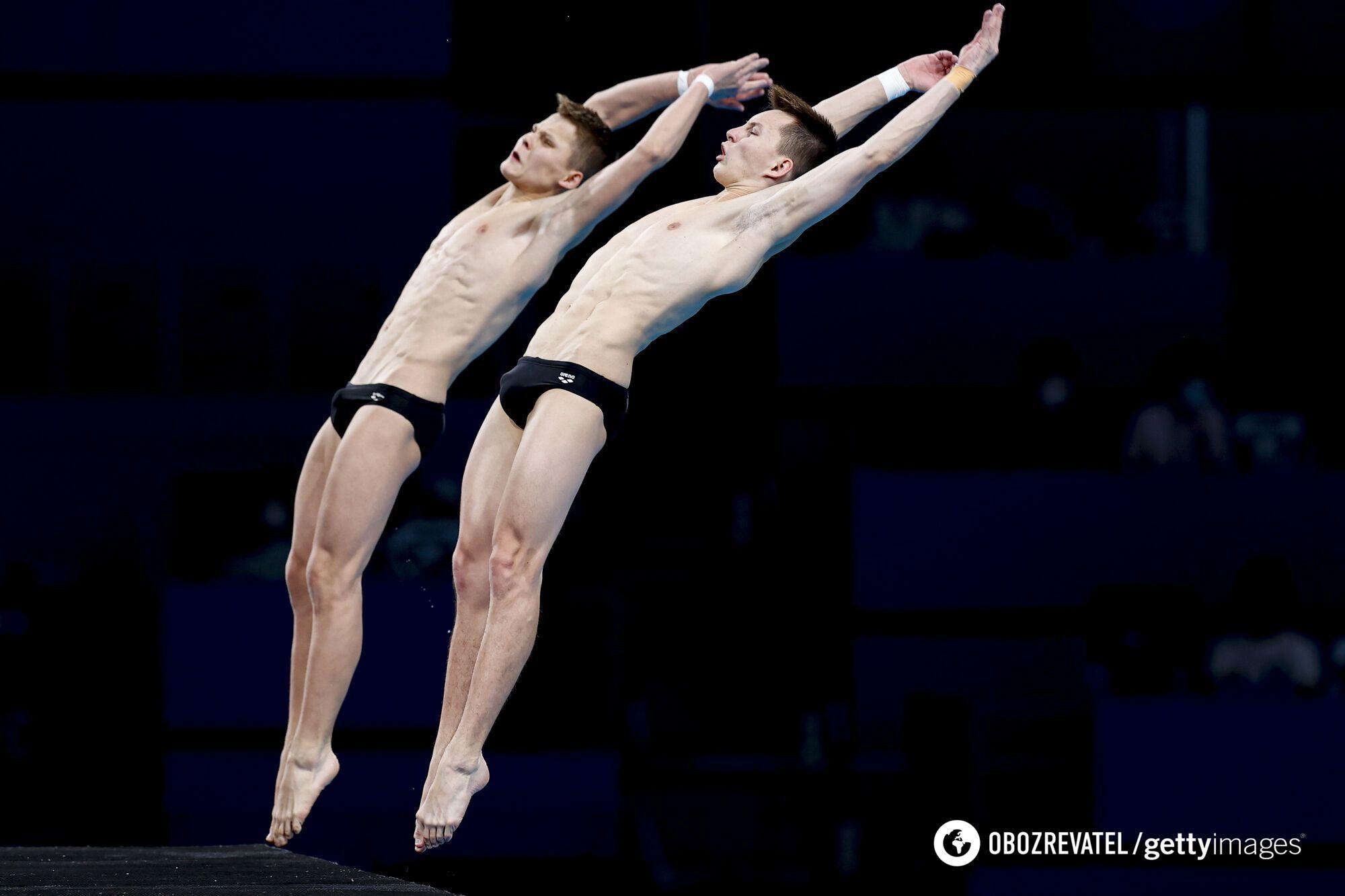 Украинские синхронисты были четвертыми перед последним прыжком