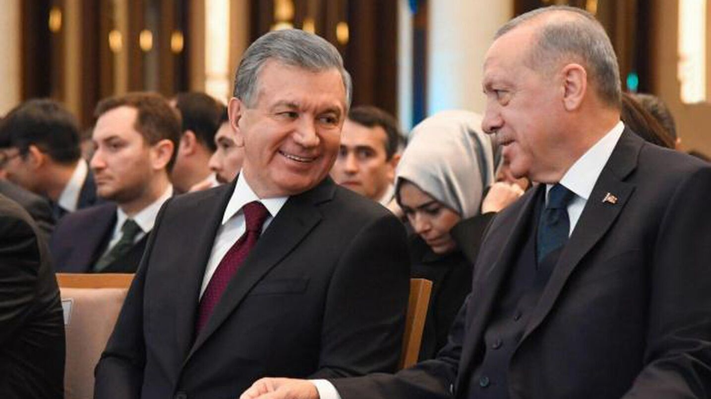 Шавкат Мирзиёев и Реджеп Эрдоган.